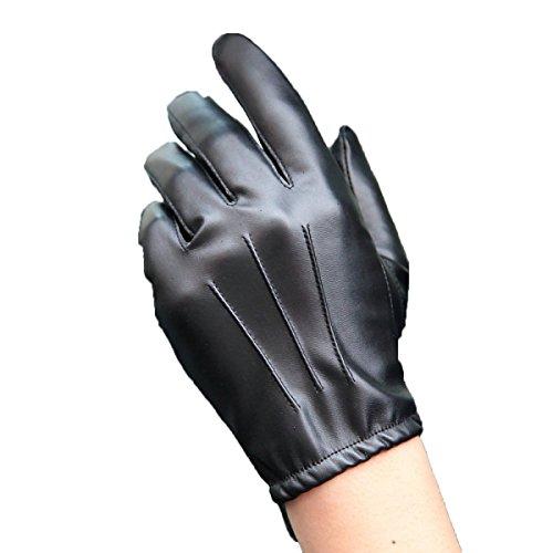 GBT Pu-leder Handschuhe Männer Dünne Abschnitt Fahren Fahren Reiten Motorrad Handschuhe Rutschfeste Volle Touchscreen,Schwarz,Groß (Dünne Leder-handschuhe)
