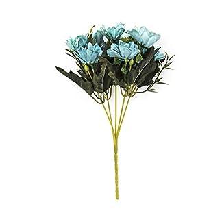 Hosaire 1x Ramo de Flores Margarita Artificiales de Seda Flor Nupcial de la Boda para la decoración de la Boda del Partido del jardín casero Escritorio Al Aire Libre Decoración Adornos 28CM