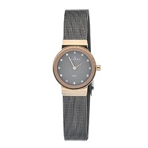 Reloj Skagen Designs UK Skagen Designs de cuarzo para mujer con correa de acero inoxidable, color negro de Skagen Designs