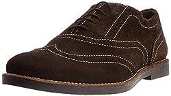 Carlton London Mens Kellan Brownsue Leather Formal Shoes - 7 UK (CLM-1133)