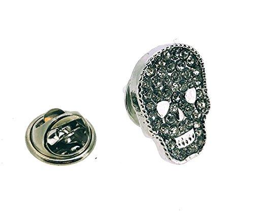 Pin de Solapa Cristal Skull Lapel Pin