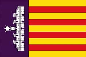 magFlags Drapeau Large Mallorca | Island of Mallorca Majorca , Spain | drapeau paysage | 1.35qm | 90x150cm