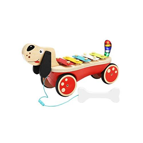 LIUFS-Klopfen Sie am Klavier Ton und Licht Toy Puppy auf dem Klavier ziehen und anklopfen (größe : M)