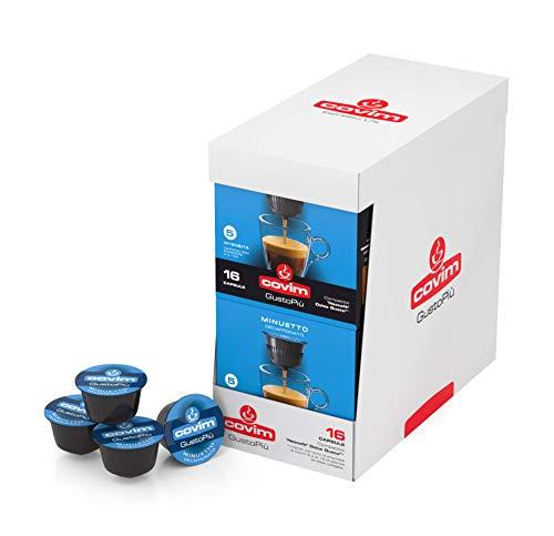 Covim Caffè Capsule GustoPiù Decaffeinato, Compatibili Sistema Nescafè Dolce Gusto, 8 Blister da 16 - 128 unita
