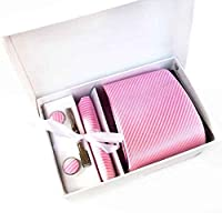 Yuany Tie clip pink tie tie bag pink cufflinks