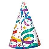 PARTY PROPZ Multicolour Birthday Cap 10 PCS/ Birthday CONFETTIS Cap/ Birthday Party Supplies/