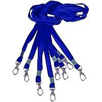Li_unmio Cierres de metal Collar clip Correas de cuello Cordón de la insignia Clave de la tarjeta de identificación de pase