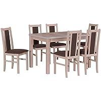 Esszimmertisch Und Stühle suchergebnis auf amazon de für tischgruppe 6 stühle möbel