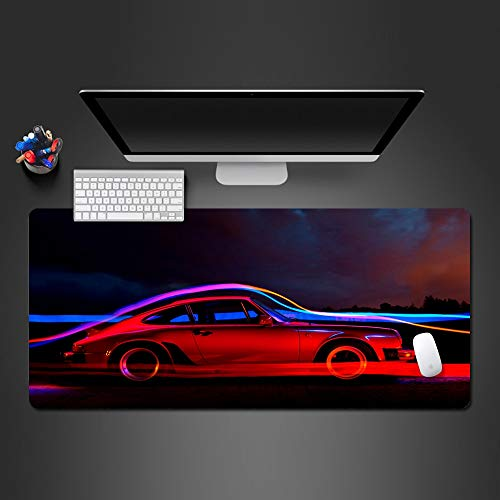 Mauspad 900X400*3Mm Red Sports Car Mousepad High-End-Spiel Mauspad Big Player Mauspad Game Desktop Pad Laptop-Tastatur Big Play Mousepad