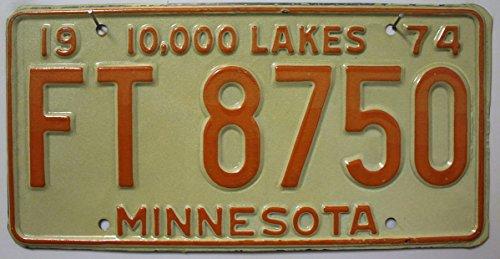 USA Nummernschild MINNESOTA ~ US License Plate 10000 lakes ~ Auto-Kennzeichen / Metallschild