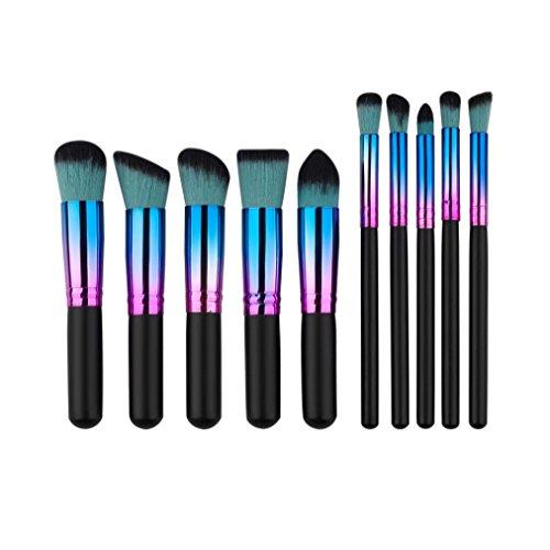 MuSheng(TM) Pinceaux set - 10pcs cosmetic pinceau de maquillage pinceaux série foundation poudre...