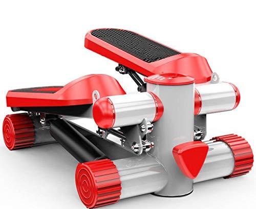 FGSJEJ Laufband Gewichtsverlust Maschine Treppe Stepper Übung Stepper Maschine Fitness Mini Stepper Treppe Stepper Trainingsgeräte mit Widerstand Bands (Color : Red, Size : One Size) -