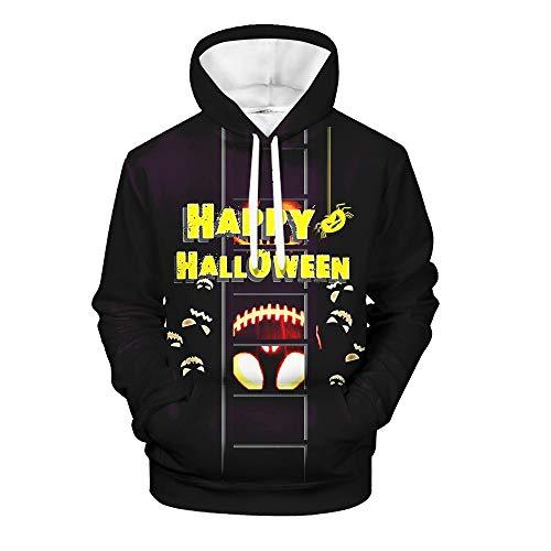 Tasche Kostüm Tiffany - UJUNAOR Der Neue beiläufige Cary Halloween 3D der Männer druckte langärmligen mit Kapuze Strickjacke-Mantel Unisex Kapuzenpullover 3D Drucken Langarm Leichte Pullover Sweatshirts