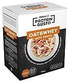 Biotech USA Protein Gusto - Oat & Whey mit Frucht - Hochproteinhaltig Eiweiß 696g (Müsli Apple-Banana)