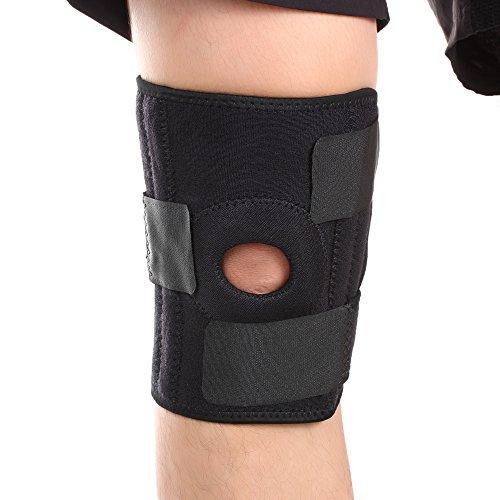 Neopren-klammer (KNIE Unterstützung Klammer - GWCLEO High Quality Neopren Patella Open fully - Compression Sleeve Knieschoner - Perfekt für die Ausbildung, Arthritis, Zerrungen, Knieverletzungen und Meniskusrisse)