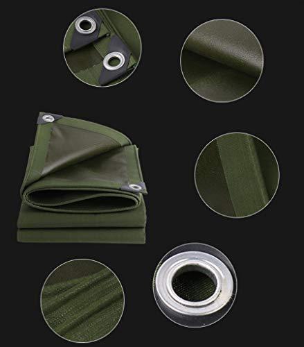 ALYR Schwerlastplanen, vielseitig 30 Mil Dick Tarps, mit Ösen Plane für Camping bei Regen oder Sonne auf der Dachterrasse,Green_6x4.5ft/2x1.5m -