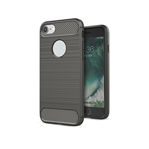 Ouneed® For iPhone 7 Hülle, Luxury Ultra Thin Drawbench Cover Case für iPhone 7 4.7 Zoll (4.7 Zoll, Marine) Grau