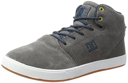 DC Shoes CRISIS HIGH, Jungen Sneaker, Grau (Grey), 36 EU (4 UK) (Shoes Dc Kinder-tag)