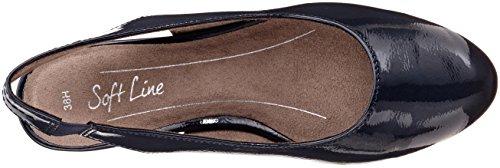 Softline 29561, Sandali con Cinturino Alla Caviglia Donna Blu (Navy Patent)