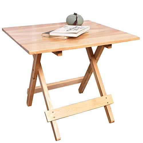 Vlook Quadratischer Klapptisch, Schreibtisch aus massivem Naturholz, Höhe 20 Zoll, tragbar, stabil und langlebig, stilvoll einfach, für Camp, Picknick und Indoor - Indoor-teak-bank