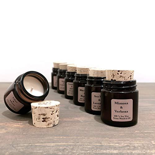 Personalisierte Soja-kerzen (Natürliche Duftkerze aus 100% Sojawachs | Mini 30 ml | Geschenk Hochzeitsgäste | Gastgeschenk Kerze | Gastgeschenk handgemacht | Personalisiertes Geschenk | Sojakerze | Nachhaltig)