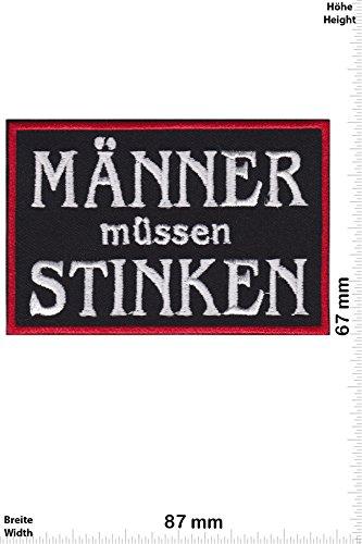 Patch-Iron-Männer müssen Stinken - Bikerpatch - Sprüche - - Iron On Patches - Aufnäher Embleme Bügelbild Aufbügler