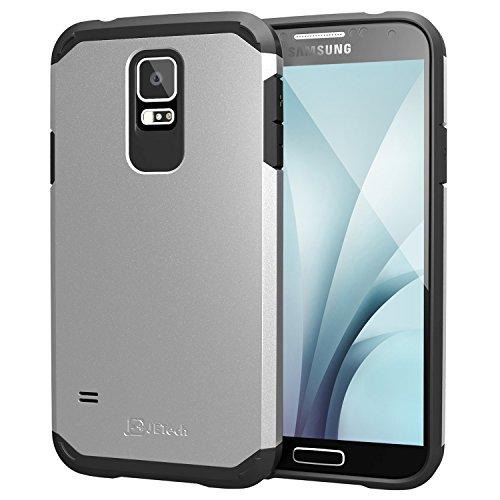JETech Carcasa para teléfono móvil, 3011-CS-TPU+PC-S5-SL, negro y plateado