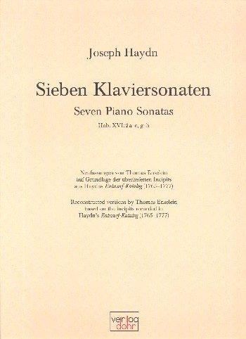 Haydn, Franz Joseph: 7 Klaviersonaten Hob.XVI:2a-e und g-h für Klavier