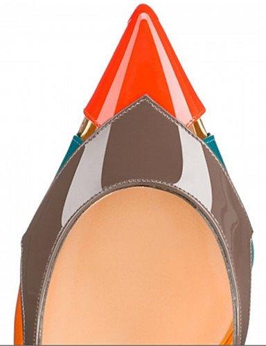 WSS 2016 Chaussures Femme-Mariage / Bureau & Travail / Soirée & Evénement-Multi-couleur-Talon Aiguille-Talons-Chaussures à Talons-Similicuir multi color-us9 / eu40 / uk7 / cn41