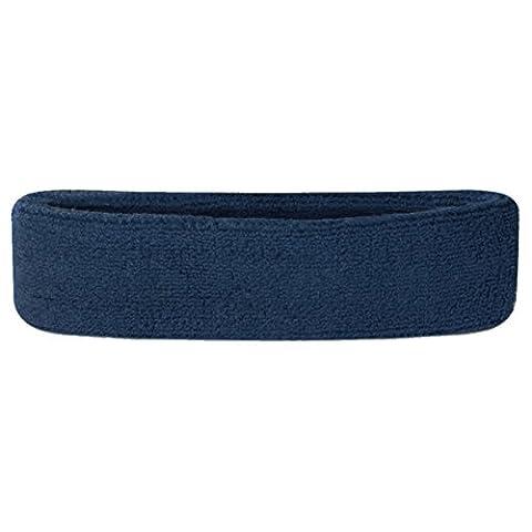 Suddora Bandeau tissu éponge en coton pour le sport, bleu marine