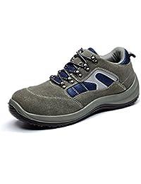 newest 93e28 fe05b CHNHIRA Chaussures de Travail Homme Embout Acier Protection Antidérapante  Anti-Perforation Chaussures de Sécurité Unisexes