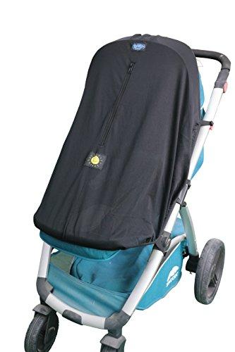 Baby Sonnenschirm Kinderwagenabbdeckung - Universell passend Sonnenschutz für 3- und 4-Rad Kinderwagen und Buggys - UV-Schutz.