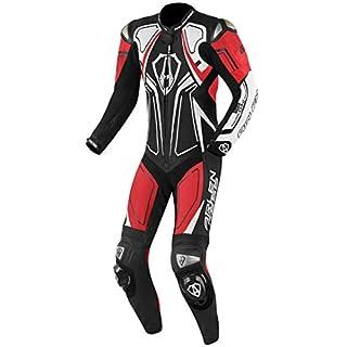 Arlen Ness Conquest 1-Teiler Motorrad Lederkombi Schwarz/Rot/Weiß 56
