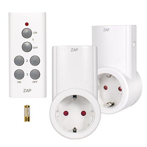 Etekcity-Enchufes-Inalmbricos-Inteligentes-con-Mando-a-Distancia-con-Control-Remoto-Interruptores-a-Distancia-Blanco-Cdigo-de-Aprendizaje-2Rx-1Tx