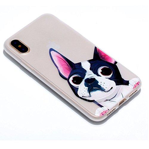 iPhone 8 Custodia, Copertura per iPhone 8, Case Cover protettiva antiurto per silicone per iPhone 8 , Soft TPU Bumper-Clear (Luce di notte-TPU) - piuma Feather Set 4