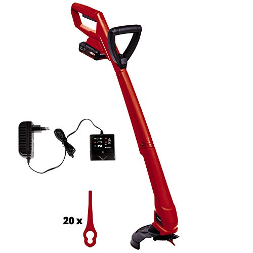 Einhell Akku Rasentrimmer GC-CT 18/24 Li P Kit Power X-Change (Lithium Ionen, 18 V, 8.500 U./Min, 24 cm Schnittbreite, inkl. 20 Stück Kunststoffmesser, 1,5 Ah Akku und Ladegerät)
