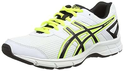 Asics Gel-Galaxy 8 GS, Chaussures de Running Entrainement Mixte Adulte - Blanc (White/Flash Yellow/True Red 0107) - 38 EU