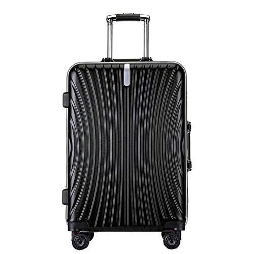 YUNY Koffer, leichter und robuster Hartschalenkoffer ABS, 4 Räder und integriertes Zahlenschloss, Reise Gr. (51 cm) S, Schwarz -