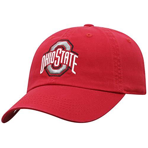 Top of the World Damen Mütze NCAA verstellbar Relaxed Fit Team Icon, Damen, NCAA Womens Adjustable Hat Relaxed Fit Team Icon, Ohio State Buckeyes Red, Einstellbar (Damen Ohio State Hat)