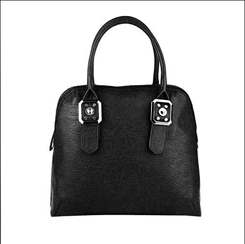 Versace, Borsa a tracolla donna nero 42x33x16 cm (BxHxT) nero