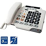 Telephone fijo Senior teclado teclas grandes cámara de memoria microSD + zumbador + Flash
