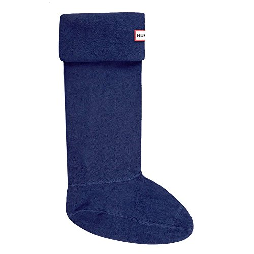 New Hunter Fleece Welly Socks - Navy - XL (Socks Boot Welly)