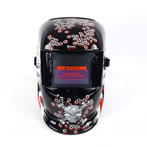 JINHONGH Solar Automatische Photoelektrische Schweißmaske Helm Argon Arc Schweißhelm Zarte Aufkleber Muster Schutzhelm (Pattern : Screw Skull)