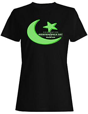Nueva Independencia De Paquistán camiseta de las mujeres m169f