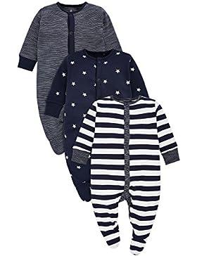next Baby Jungen Schlafanzüge Streifenmuster/Sternenmuster 3Er Pack (0 Monate Bis 2Jahre)