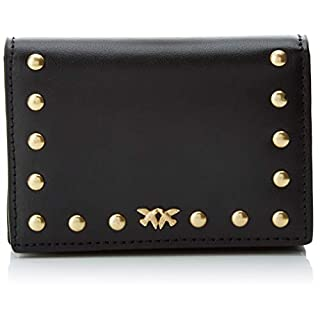 Pinko Allegri Credit Card Folder Vitello Seta, Women's ID Case, Black (Nero Limousine), 2.5x8x11 cm (W x H L)