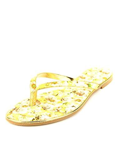 Cendriyon Tong Fowers Jaune Rosana Chaussures Femme Jaune