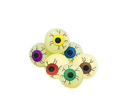 12 Flummy Augen mit Leuchteffekt