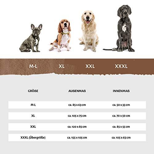 Knuffelwuff Tierbett »Hundebett Lina«, Kariert, braun - 5