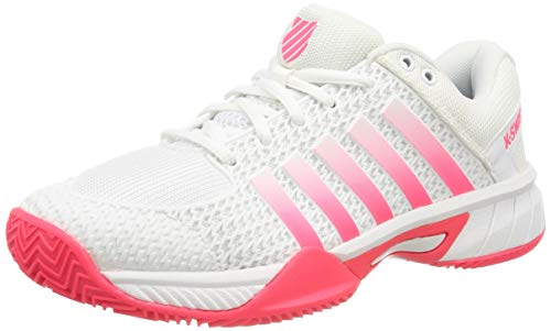 K-Swiss Performance KS Tfw Express Light HB, Zapatillas de Tenis para Mujer, Blanco (White/Pink 32),